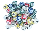5-Color 6-Number Bingo Ball Set