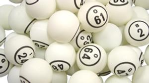 White Double Number Bingo Ball Set bingo balls, double sided bingo balls, ping pong balls