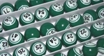 Green Double Number Bingo Ball Set Green, Double, Number, Bingo, Ball, Set,