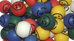 Multi-Color Double Number Bingo Ball Set Bingo balls, balls, colored
