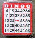 100 Plastic Coated Bingo Cards Finge,Tip,  Bingo, Cards, shutter, Coated, Plastic