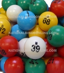 Multi-color Small Bingo Ball Set Bingo balls, balls, colored, multicolor