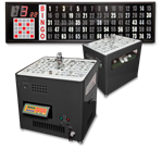 Black Table Top Bingo Blower/Flashboard System
