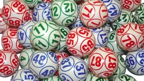 Professional-10 Sided Multi-Color Lotto Ball Set Bingo balls, balls, colored, Lotto