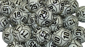 10-Sided Black and White Lotto Ball Set Bingo balls, balls, colored, lotto