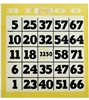 1 ON Easy Read (750/PK) bingo paper, paper cards