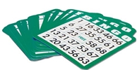 50 Plastic Coated Bingo Cards Finge,Tip,  Bingo, Cards, shutter, Coated, Plastic