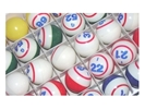 5-Color Striped Single Number Ping Pong Bingo Ball Set Color, Stripe, Number, Bingo, Ball, Set,